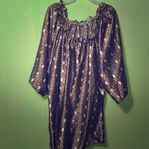 Tops - Brown and white checkered silk top or dress